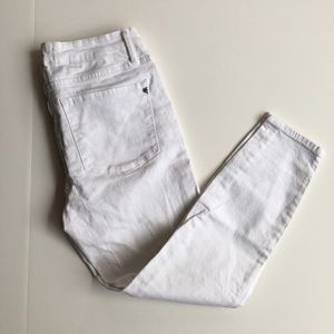 Rachel Roy Women Size 30 Crop Skinny White Jeans
